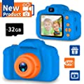 Seckton Upgrade Kids Selfie Camera, Best Birthday Gifts for Boys Age 3-9, HD Digital Video Cameras for Toddler, Portable Toy for 3 4 5 6 7 8 Year Old Boy with 32GB SD Card-Orange