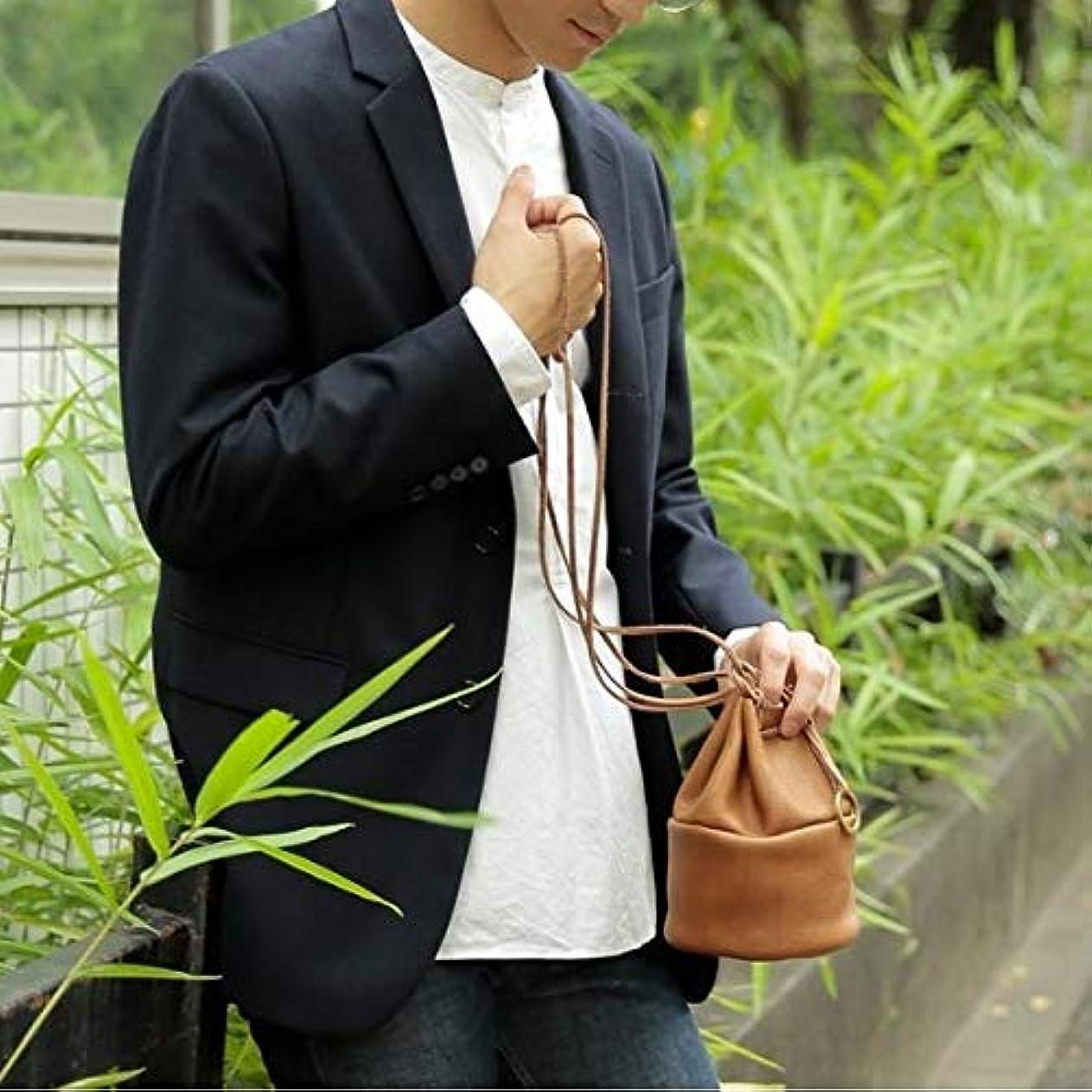 過激派切り下げ概念オティアス(Otias) 【日本製】シュリンクレザーオイル仕上げ巾着バッグ/ポーチ/ミニショルダーバッグ