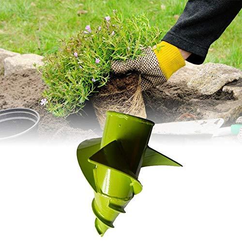 Bouder Garten Schnecken Spiralbohrer, Elektrisch Schnurlos Handbohrer Erdlochbohrer Auger Baggerbohrer, Zeitsparende Lochbohrer Grabungswerkzeug zum Pflanzen Rübenzwiebeln Sämlingen (20x20cm)