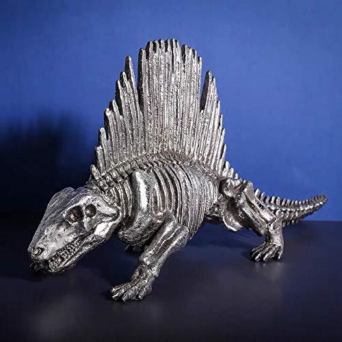 PZAIQ Gartenfigur Skulptur Deko Figur Dinosaurier Fossile Harz Statue Dekoration Nach Hause Wohnzimmer Raumdekoration
