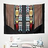 Tapiz de pared americano con geometría india, toalla de playa, esterilla de yoga, lavable a máquina, 200 x 150 cm, color blanco