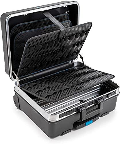B&W GO Valigetta portautensili mobil con anelli portautensili (valigetta in ABS, volume 36l, 48 x 37,5 x 20 cm interno) 120.04/L, senza utensili