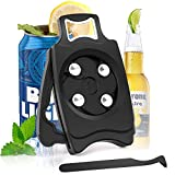 Upgrade Go Swing Beer Can Opener Hand Held -Topless Can Opener with Soft Edge Cutting,Multifunctional and Easy To Cut Top Can Tool for Household Kitchen,Bar,Party (fit 8-19 oz beverage cans) Black