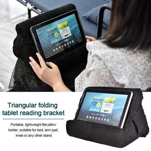Cokeymove Soporte de Almohadas para iPads,Soportes universales para teléfonos y tabletas,Cojín para Tableta,Almohada Blanda multiángulo Lap Stand para Tablets eReaders