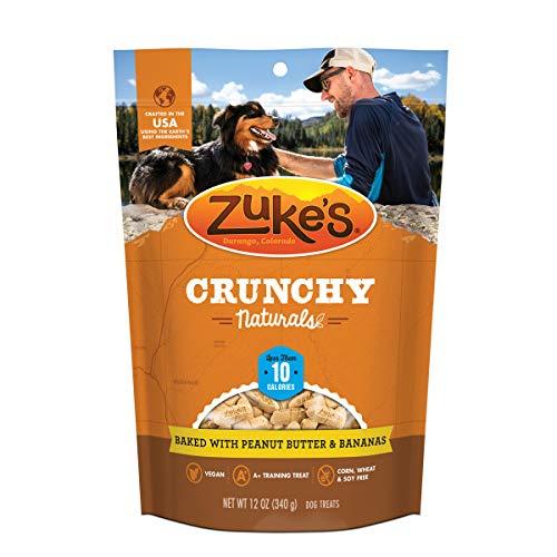 Zuke's 30015 Crunchy Naturals Training Dog Treats Baked with Peanut Butter & Bananas - 12 Ounce, Bag