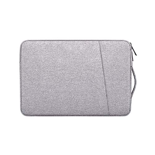Laptop Sleeve for 13.3 Inch MacBook Air and MacBook Pro, Compatible with 13-13.3 Inch Notebook Computer, Waterproof Shock Resistant Tablet iPad Case Bag with Handle and Accessory Pocket, Gray