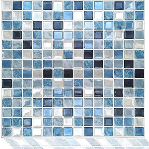 FVDS Pegatinas de Azulejos de Mosaico 3D, peladas y paletas de baldosas de Pared para Cocina y baño, Espalda Impermeable Azulejos calcomanías Autoadhesivas de Pared (Color : 4pc)