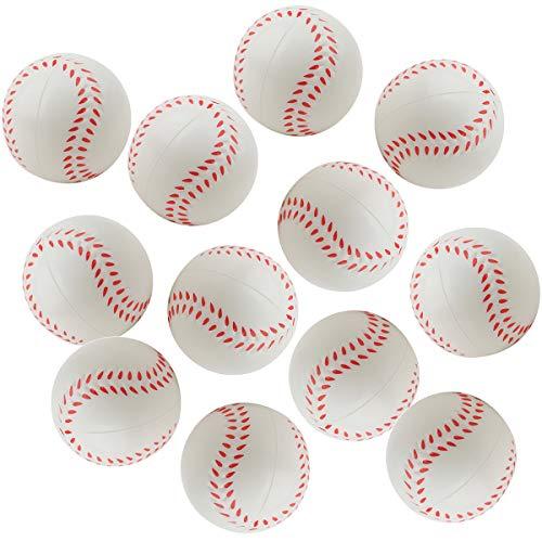 DORUS 12 pcs Baseball Sports Themed 2.5-Inch Foam Squeeze Balls for...