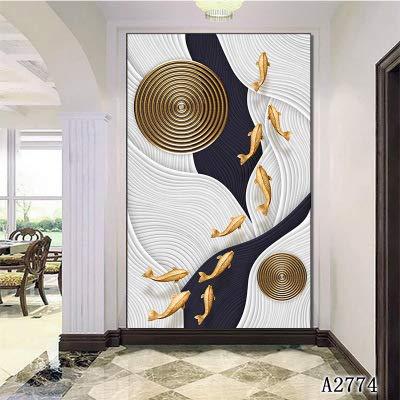 Liu Sensen Wand Kunstdrucke Auf Leinwand Abstrakte Fische Schwimmen In Einem Bach Gemälde Auf Leinwand Wandmalereien Bild Bilder Home Hotel Büro Studie Dekoration Innen Gerahmt 1Panel