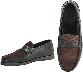 [パラブーツ] コインローファー メンズ靴 ブラウン 当店別注モデル オイルドレザー ショートベロア のコンビ CORAUXモデル coraux-093635 国内正規取扱