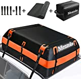 MENZOKE Rooftop Cargo Carrier,15 Cubic Feet Soft-Shell Waterproof Vehicle Cargo Carriers, Car Top Carrier Luggage Carrier with Storage Bag, Anti-Slip Mat for All Vehicle with/Without Rack(Orange)