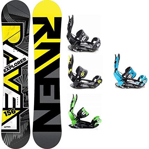 Snowboard pour SB Bag//153/160/164/cm AIRTRACKS Board Kit Complet//Bottes Another World Carbone Wide Hybrid Rocker Fixation de Snowboard Star