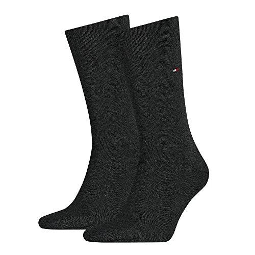 Tommy Hilfiger Socken Classic, Anthrazit Melange, 43-46 - 12er Pack/Paar