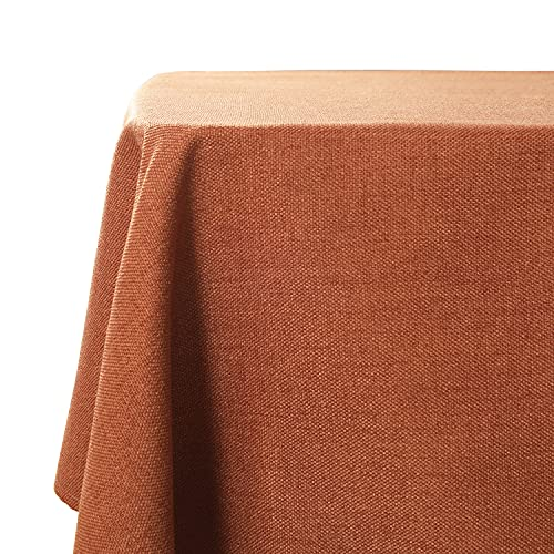 WAITER TREE Mantel Impermeable Mantel de Lino Sintético para Patio Mantel de Estilo Clásico para Decoración de Cocina Cafetería (Naranja, 140x180cm)