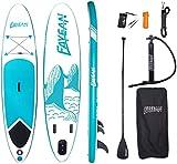 Juego de tabla de surf de remo, hinchable, tabla de surf, tabla de surf, asiento de remo iSUP, juego completo, incluye bomba, cuerda de kayak, bolsa impermeable, capacidad de carga de hasta 160 kg