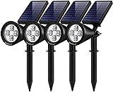 InnoGear Solar Lights Outdoor, Upgraded Waterproof Solar Powered Landscape Spotlights 2-in-1...