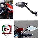 7703+7702 Par de Espejos retrovisores homologados Viper de carenado Compatible con Yamaha TZR 50 R Moto Negro