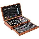 holilest Brush, 142pcs / Set Kit de Dibujo de Artista Lápiz de Color Crayón Aceite Pastel Pincel de Pintura Arte