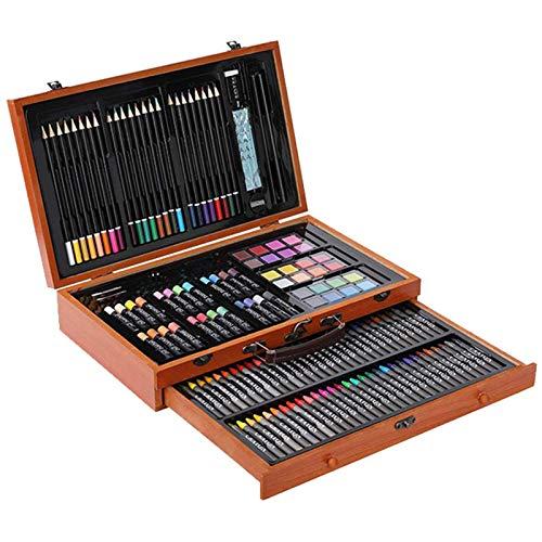 BOBEINI Kit de Dibujo de Artista 142 unids/Set, lápiz de Colores, crayón, Pincel de Pintura Pastel al óleo para niños, Estudiantes de Arte