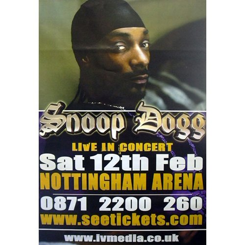 Snoop Doggy Dog - Riesenposter Live in concert