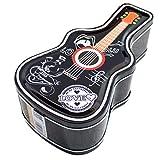 ABOOFAN Latas de Metal Navideñas Forma de Guitarra Banco de Monedas Hucha Caja Fiesta de Navidad Decoración de Mesa de Regalo Estilo Aleatorio