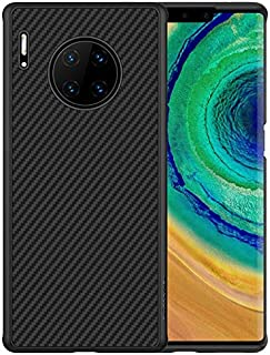 Huawei Mate 30 Pro Case Cover Carbon Fiber Design TPU Black Soft Slim Flexible Shock Absorbent Protective Case Cover for H...