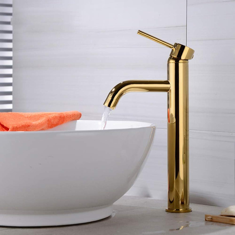 WHFDRHSLT Luxus Goldene Messing Wasserhahn Badarmaturen Einzigen Handgriff