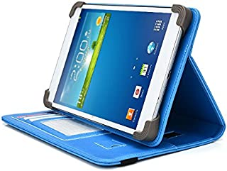 Vulcan Journey 7 Inch Tablet Case, UniGrip PRO Series - LIGHT BLUE - By Cush Cases (Case Features Top Quality PU Leather with Bulit In Stand, Hand Strap, 3 Card Slots and SIM Card Holder)