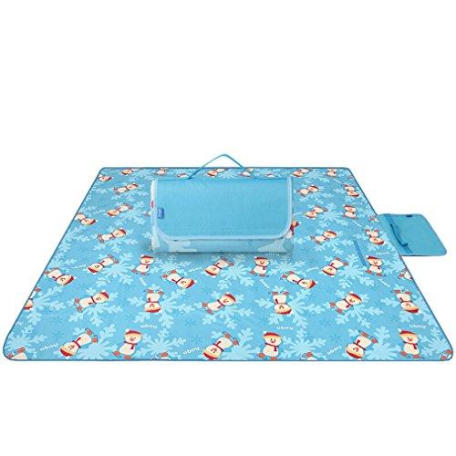 SYNMAT Wasserdicht 200 x 200 cm Picknickdecke Outdoor Frühjahr Reise Tragbare Gepolsterte wasserdichte Matte Camping Picknick-Matte Rasen Außen Matte Baumwolle (Color : Blue)