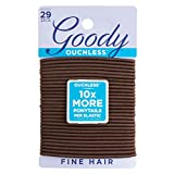 Goody Hair Women's Ouchless Hair Elastics, Brown, 29 Count