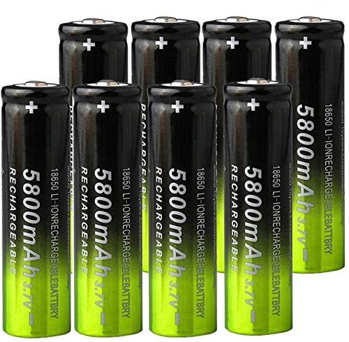 3.7V 5800mAh 18650 Batería de Carga de Litio baterías Recargables Li Ion Cell para Linterna 8pcs