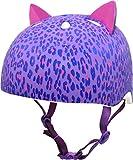 Krash Girls Bike Helmet, Purple Leopard Kitty