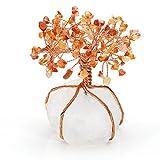 JSDDE - Albero della vita con cristalli naturali, decorazione per albero della vita, con pietra Feng Shui (agata rossa)
