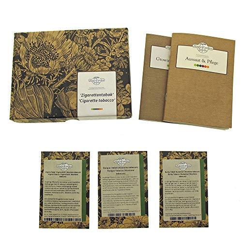 Zigarettentabak - Samen-Geschenkset mit 3 geeigneten Tabaksorten für Zigarettentabakmischungen