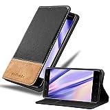 Cadorabo Hülle für Nokia 5 2017 in SCHWARZ BRAUN – Handyhülle mit Magnetverschluss, Standfunktion & Kartenfach – Hülle Cover Schutzhülle Etui Tasche Book Klapp Style