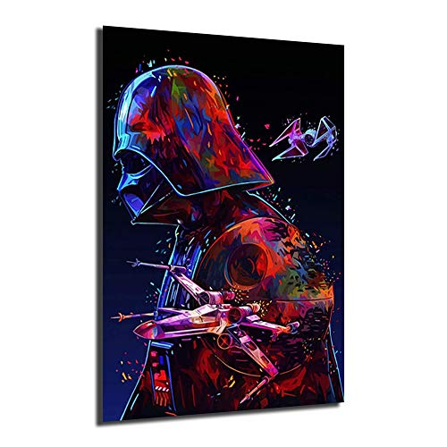 Darth Vader Movie Posters Canvas Prints Picture Modular Paintings For Living Room Poster On The Wall Home Decor (No Framed,16x24inch)