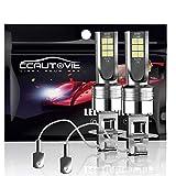 CCAUTOVIE Bombilla LED Antiniebla Coche H3 para Luces Antiniebla Circulación Diurna DRL 60W 6000K Blanco