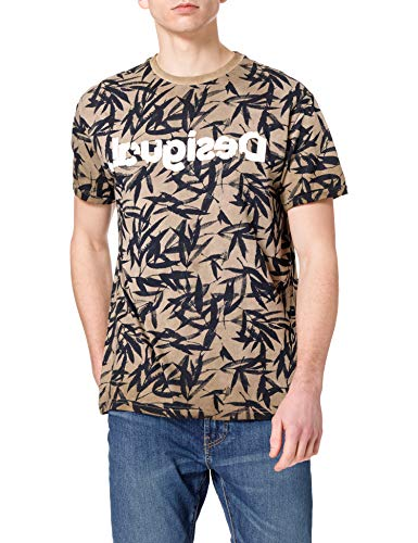 Desigual TS_CESARION Camiseta, marrón, S para Hombre