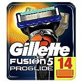 Gillette Fusion5 ProGlide Lamette Di Ricambio Per Rasoio Da Uomo Con Tecnologia FlexBall, 14 Pezzi