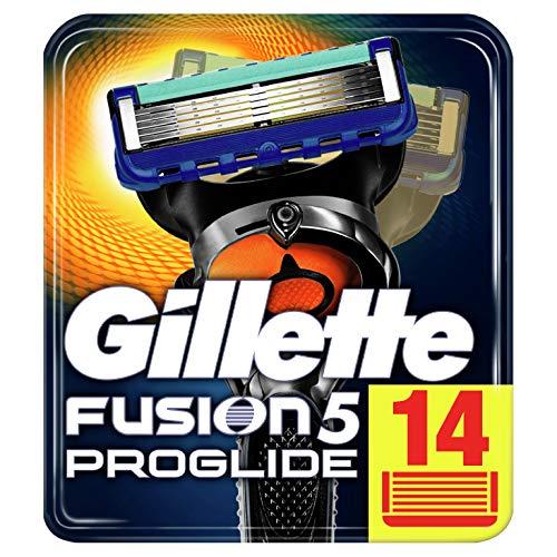 Gillette Fusion5 Proglide Lamette da Barba, 14 Ricambi da 5 Lame, Delicatezza Insuperabile con Tecnologia Flexball, Fino a 1 Mese di Rasatura con 1 Lametta