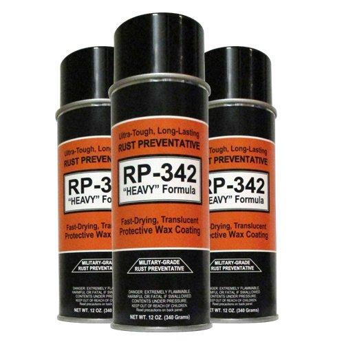 "Cosmoline RP-342""Heavy"" Rust Preventative Spray (Military-Grade) 3-Cans"