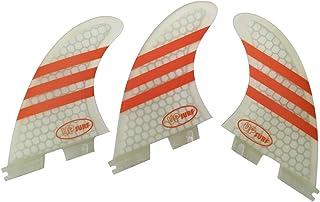 UPSURF Surfboard Tri Fin FCS II M Size Fiberglass+Honeycomb G3/G5/G7 Thruster Set