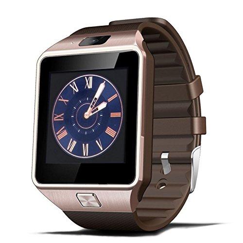 2016 Fashion Aplus Smart Watch GV18 Support Micro SIM Card NFC Communication Bluetooth 3.0 Clock 550mAh Battery Long Duration (Gold)