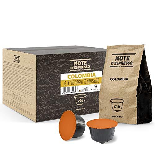 Note d'Espresso Italiano - Cápsulas de Café Nescafé e Dolce Gusto, compatibles con cafeteras Nescafé e Dolce Gusto de Colombia, 96 x 7 g, Total 672 g