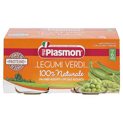 Plasmon Omogeneizzato di Legumi Verdi, 2 x 80 g