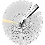Spessimetro 32 Lame Spessimetro inox, Metrico e Imperiale Spessimetri Professionale, 0.04-0.88mm Per Misurare Larghezza/Spessore/Dimensioni.