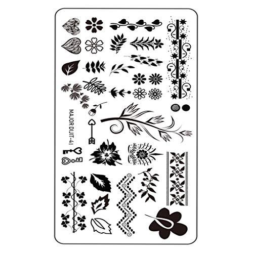 Nagel-Kunst-Aufkleber-Abziehbild-Dekoration-Nagel DIY Nagel-Kunst-Dekoration-Werkzeug-Aufkleber-Nagel Spleißen Sie Bild Platte Nail Art Maniküre Set kreative modische Nagelaufkleber Nageldekoration