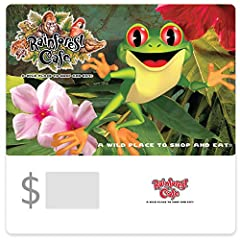 Rainforest Cafe-A wild place to shop and eat! May be used to purchase goods and services at any Landry's, Inc. or affiliated location in the U.S. until the full balance is used. Redemption Instore Only. For locations near you, visit www.landrysinc.co...
