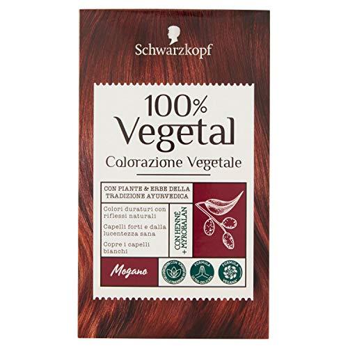 Schwarzkopf 100% Vegetal Colorazione Vegetale per Capelli, Mogano