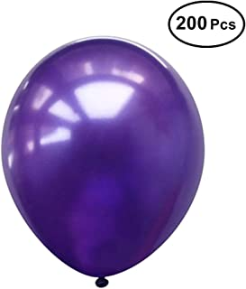 "Neo LOONS 5"" Pearl Purple Premium Latex Balloons Great for Kids, Adult Birthdays, Weddings, Receptions, Baby Showers, Water Fights, or Any Celebration, Pack of 200"